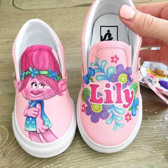 Painted kids shoes